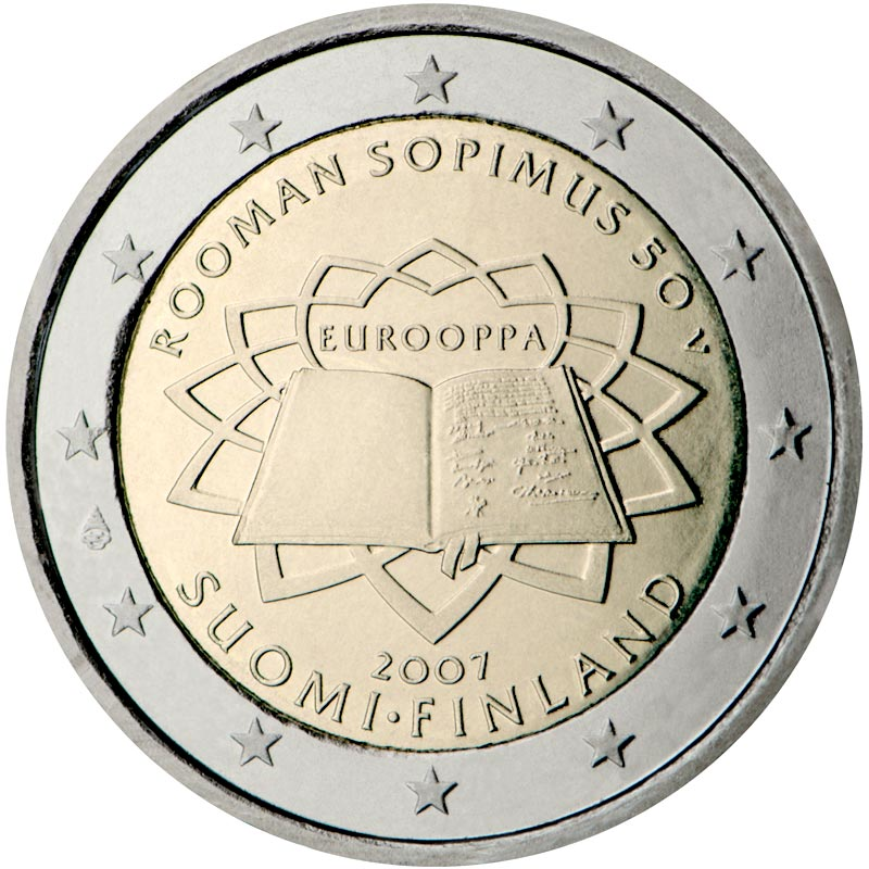 Image of 2 euro coin – 50th anniversary of the Treaty of Rome | Eurozone 2007