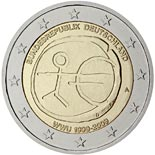 2 euro coin 10th Anniversary of the Introduction of the Euro | Eurozone 2009