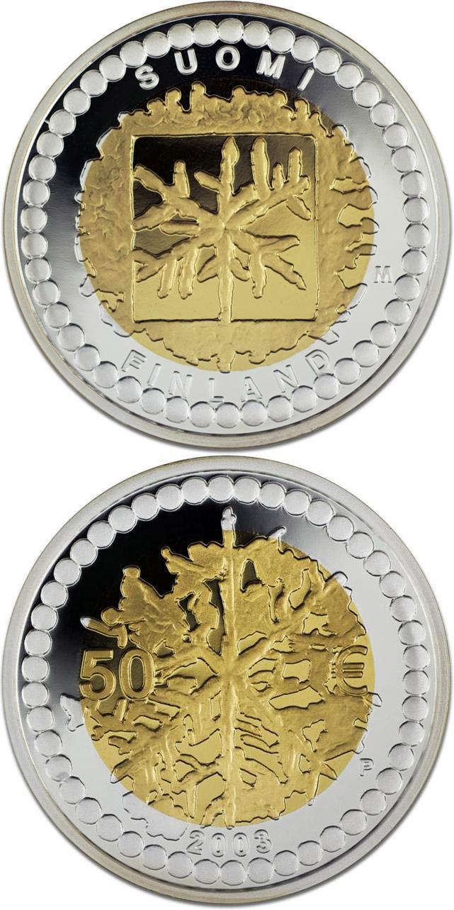 Bimetal Silver Gold Euro Coins The 50 Euro Coin Series