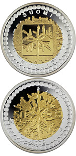 50 euro 125 years gold Coins Minting in Finland  - 2003 - Series: Bimetal silver-gold euro coins - Finland