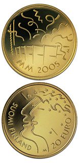20 euro coin 10th Athletics World Championships in Helsinki  | Finland 2005