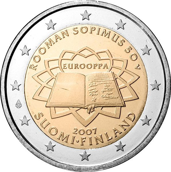 2 euro 50th Anniversary of the Treaty of Rome - 2007 - Series: Commemorative 2 euro coins - Finland