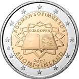 2 euro coin 50th Anniversary of the Treaty of Rome | Finland 2007