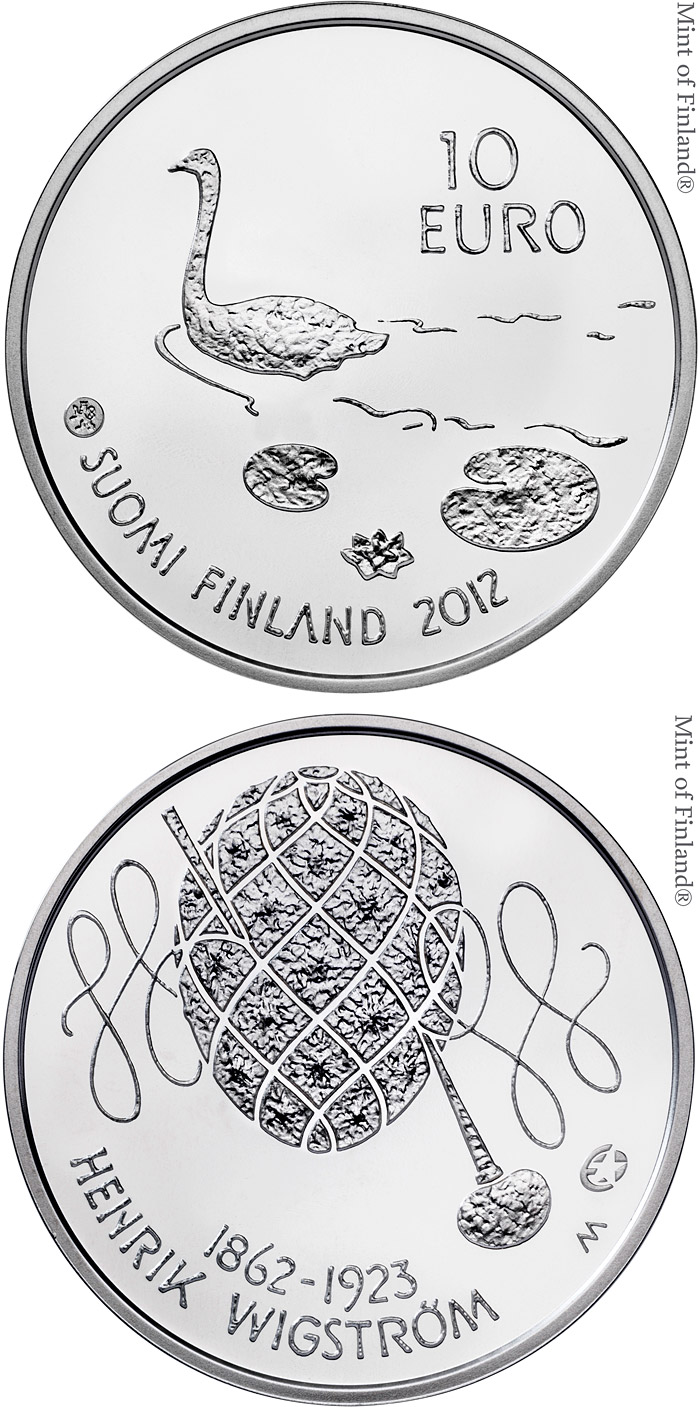 10 euro 150th anniversary of the birth of Henrik Wigström  - 2012 - Series: Silver 10 euro coins - Finland