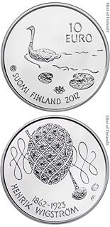 10  coin 150th anniversary of the birth of Henrik Wigström  | Finland 2012