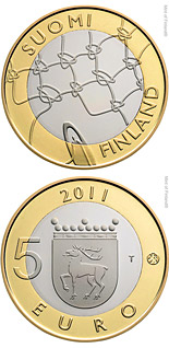 5 euro Åland Provincial Coin - 2011 - Series: Finnish historic provinces - Finland