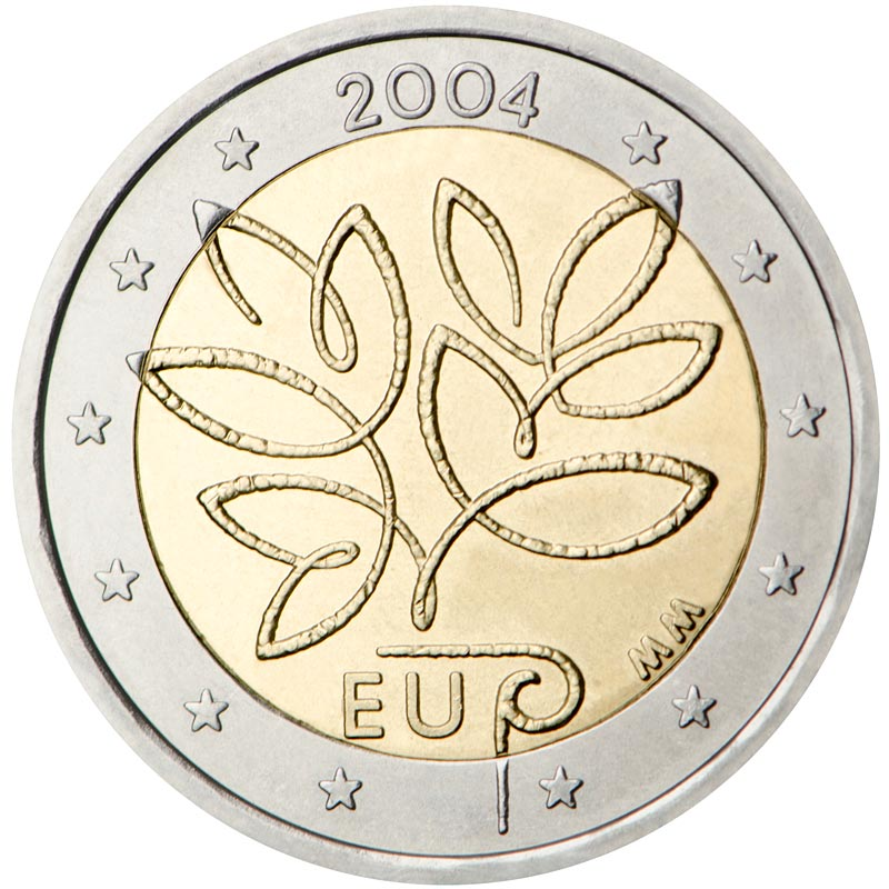 Image of 2 euro coin - Fifth Enlargement of the European Union in 2004 | Finland 2004