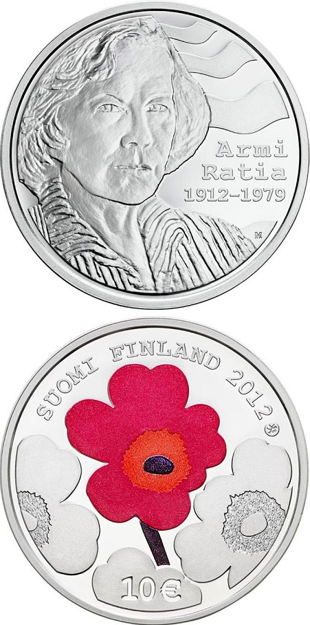 10 euro 100th Anniversary of the Birth of Armi Ratia - 2012 - Series: Silver 10 euro coins - Finland
