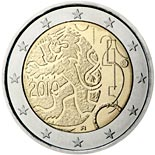 2 euro coin 150th anniversary of Finnish currency | Finland 2010