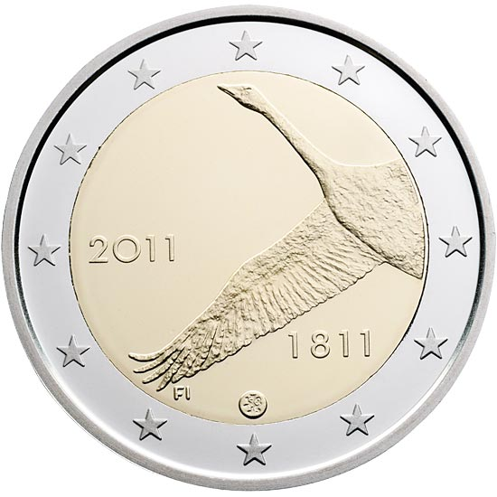 Image of 2 euro coin - 200th anniversary of Bank of Finland  | Finland 2011