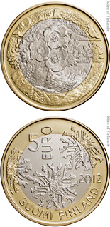 5 euro Flora - 2012 - Series: The Nordic Nature - Finland