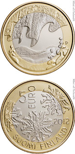 5 euro coin Winter | Finland 2012