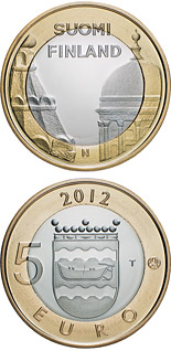 5 euro coin Uusimaa: Helsinki Cathedrals and Uspenski Cathedrals | Finland 2012