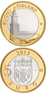 5 euro Finland Proper: Turku Cathedral - 2013 - Series: Buildings of the Provinces - Finland