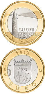 5 euro Åland: Sälskär lighthouse - 2013 - Series: Buildings of the Provinces - Finland