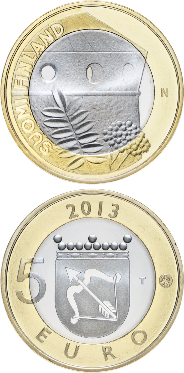Image of a coin 5 euro | Finland | Savonia: St. Olaf's Castle | 2013