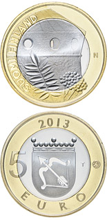 5 euro coin Savonia: St. Olaf's Castle | Finland 2013