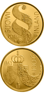 100 euro The Diet of 1863 - 2013 - Series: Gold 100 euro coins - Finland