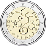 2 euro coin 150th Anniversary of Parliament of 1863 | Finland 2013