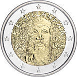 2 euro coin 125th Anniversary of the birth of Nobel prize winning author F.E.Sillanpaa | Finland 2013