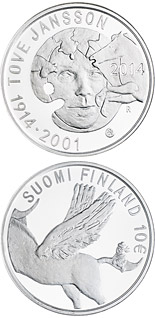10 euro coin 100th Anniversary of the Birth of Tove Jansson | Finland 2014