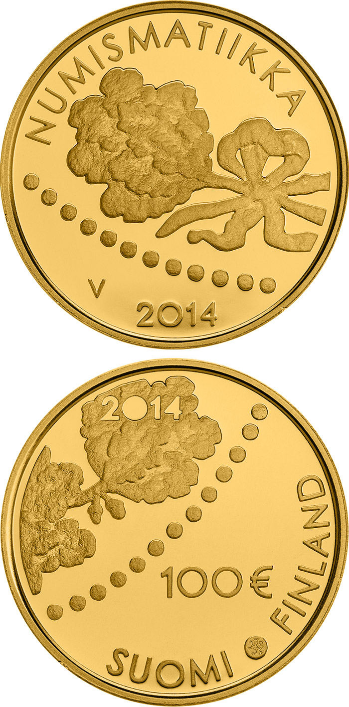 100 euro 150 years of Finnish Mark and Numismatics  - 2014 - Series: Gold 100 euro coins - Finland