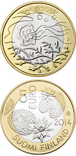 5 euro coin Northern Nature – Water | Finland 2014