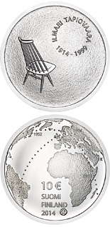 10 euro coin Ilmari Tapiovaara and the Art of Interior Design | Finland 2014
