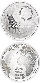 20 euro coin Ilmari Tapiovaara and the Art of Interior Design | Finland 2014