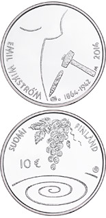 10 euro coin 400th Anniversary of the Birth of Emil Wikström | Finland 2014