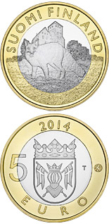 5 euro coin Animals of the Provinces – Finland Proper: The Wily Fox | Finland 2014