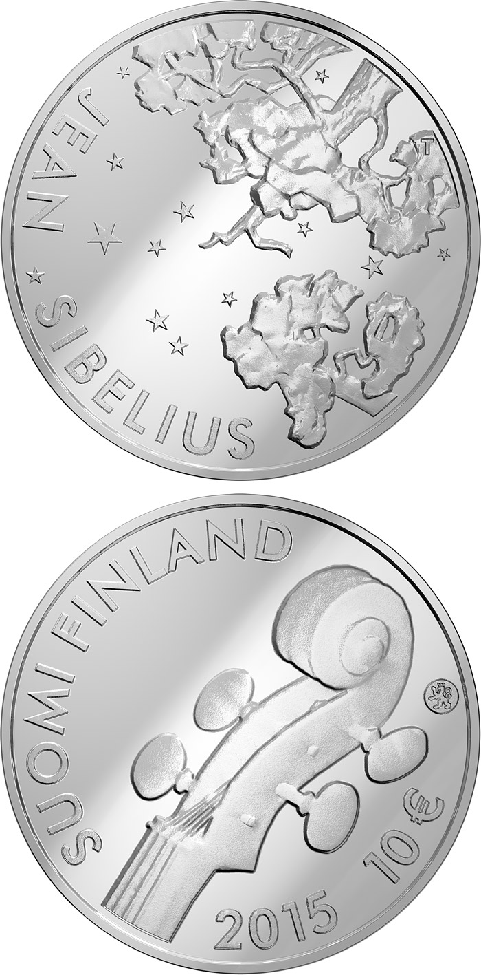 10 euro 150th Anniversary of the Birth of Jean Sibelius - 2015 - Series: Silver 10 euro coins - Finland