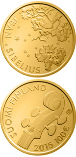 100 euro 150th Anniversary of the Birth of Jean Sibelius - 2015 - Series: Gold 100 euro coins - Finland