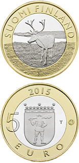 5 euro coin Animals of the Provinces – Lapland | Finland 2015