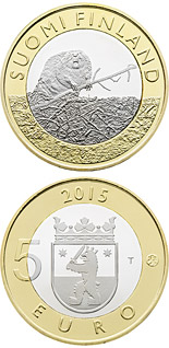 5 euro coin Animals of the Provinces – Satakunta | Finland 2015