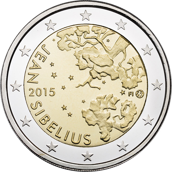 Image of 2 euro coin - Jean Sibelius | Finland 2015