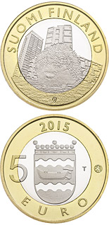 5 euro coin Animals of the Provinces – Uusimaa | Finland 2015