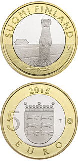 5 euro coin Animals of the Provinces – Ostrobothnia | Finland 2015