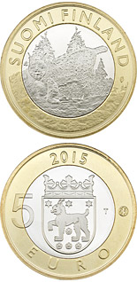 5 euro coin Animals of the Provinces – Tavastia | Finland 2015