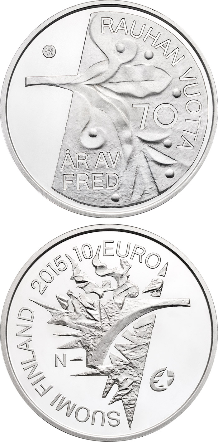 Image of 10 euro coin - 70 Years of Peace in Europe | Finland 2015