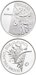 10 euro coin 70 Years of Peace in Europe | Finland 2015