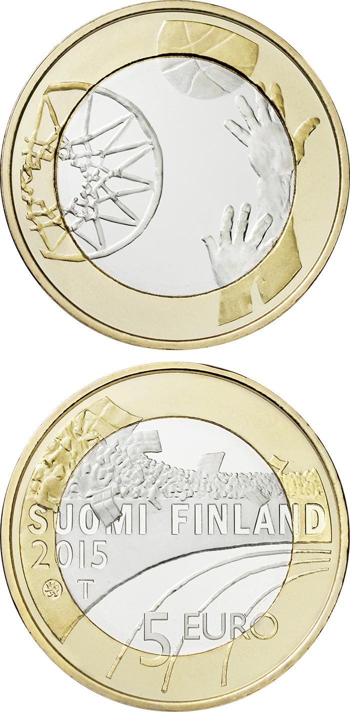 5 euro Basketball  - 2015 - Series: Sports - Finland