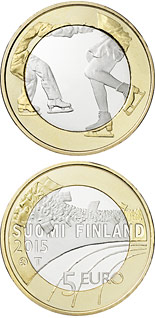 5 euro coin Figure skating  | Finland 2015