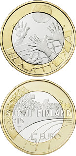 5 euro coin Volleyboll  | Finland 2015