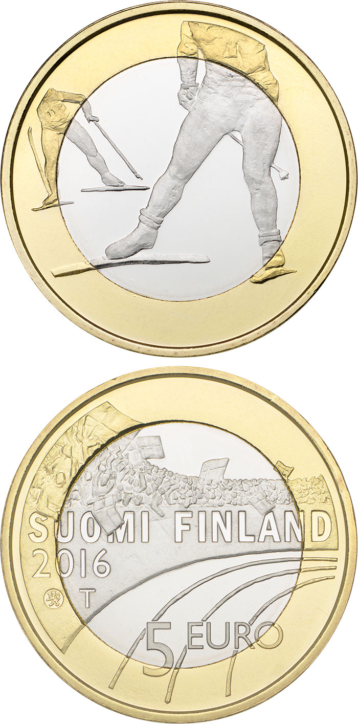 5 euro Skiing  - 2016 - Series: Sports - Finland