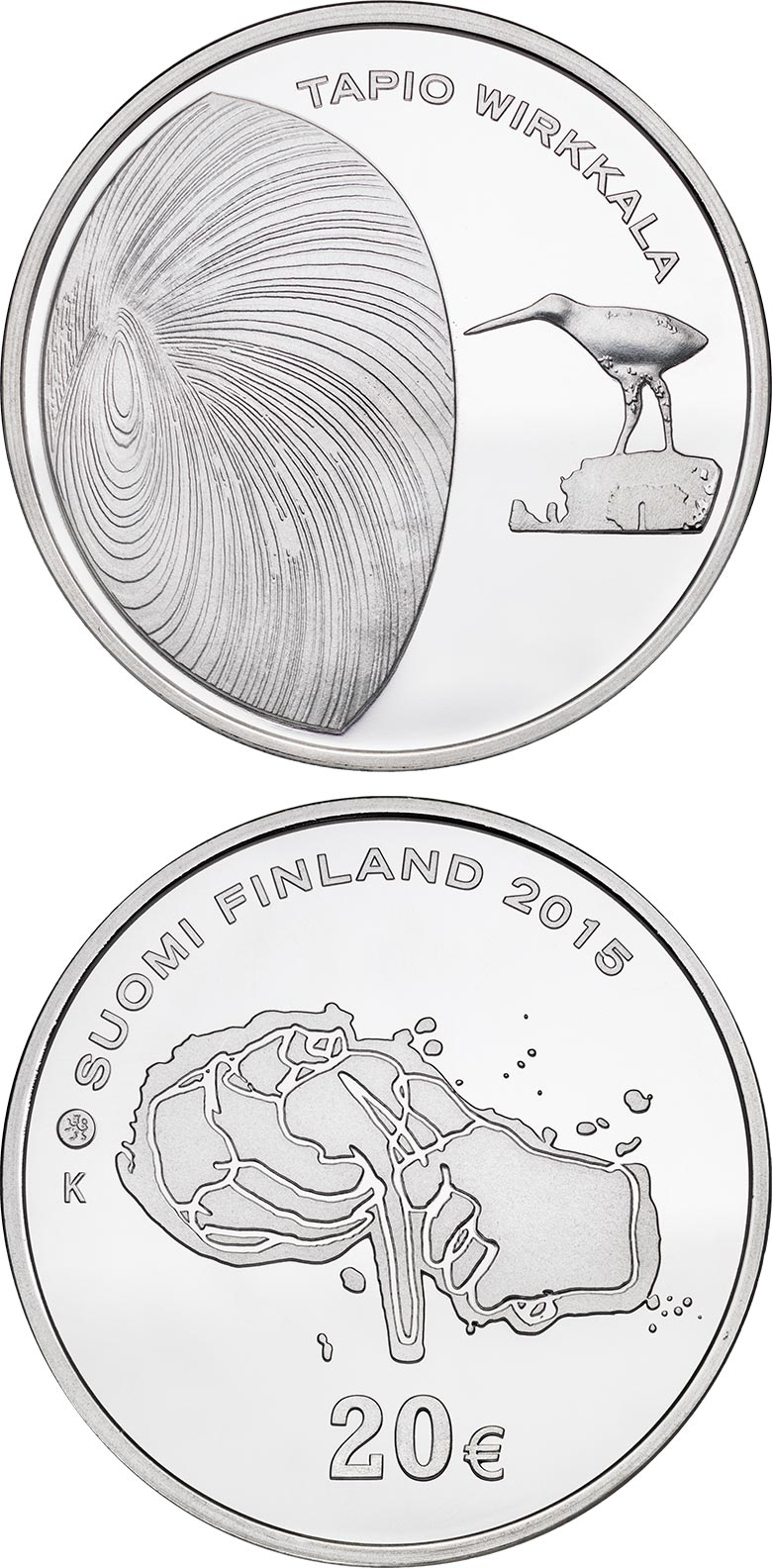 20 euro 150th Anniversary of the Birth of Tapio Wirkkala - 2015 - Series: Collector 20 euro coins - Finland