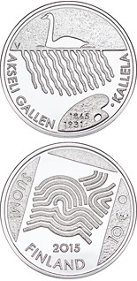 10 euro coin 150th Anniversary of the Birth of Akseli Gallen-Kallela | Finland 2015
