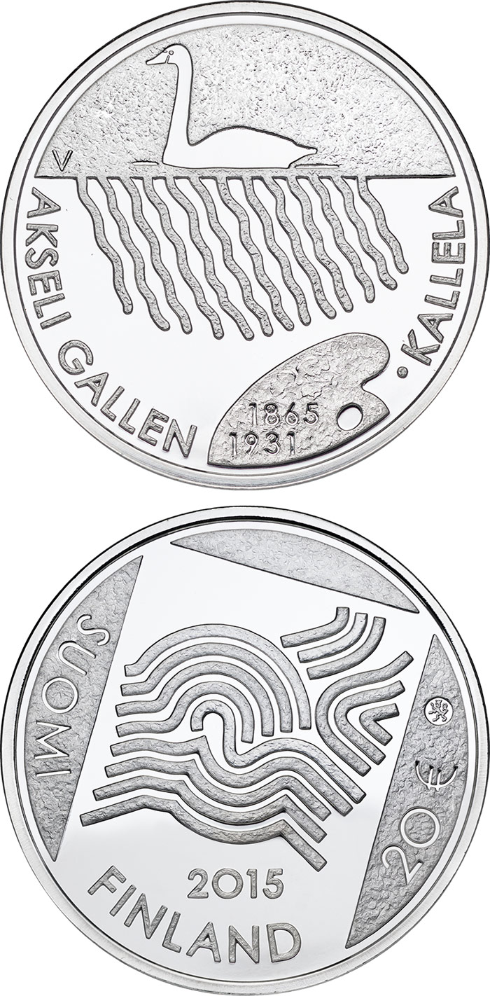 20 euro 150th Anniversary of the Birth of Akseli Gallen-Kallela - 2015 - Series: Collector 20 euro coins - Finland