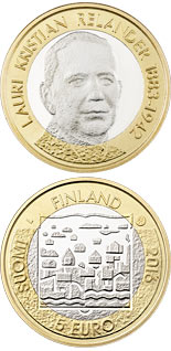 5 euro L.K. Relander - 2016 - Series: Presidents of Finland - Finland