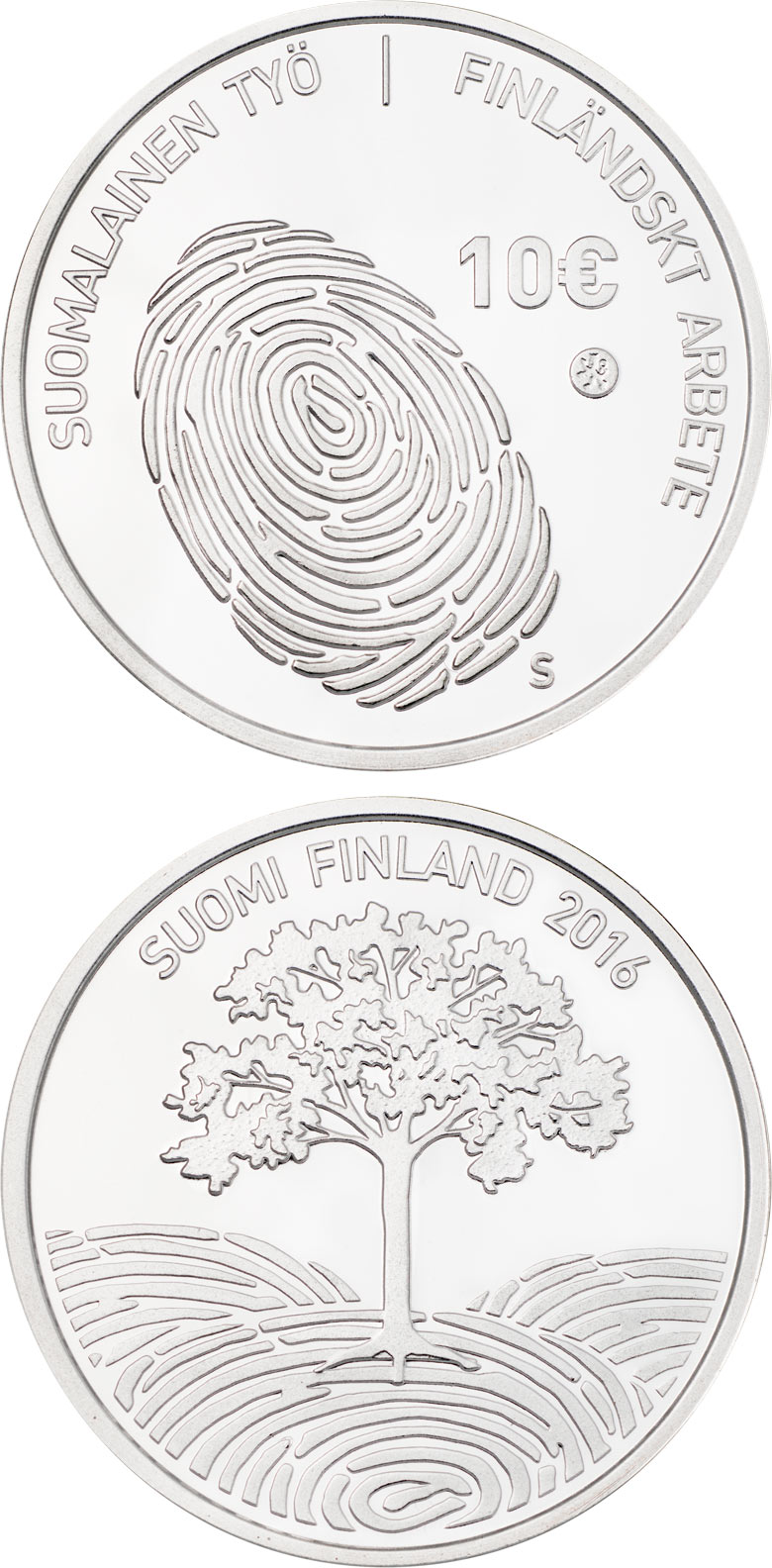Image of 10 euro coin - Finnish work | Finland 2016